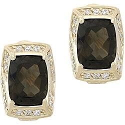Glitzy Rocks 18k Gold Overlay Smokey Quartz and White Topaz Earrings|https://ak1.ostkcdn.com/images/products/3402010/3/Glitzy-Rocks-18k-Gold-Overlay-Smokey-Quartz-and-White-Topaz-Earrings-P11484998.jpg?_ostk_perf_=percv&impolicy=medium