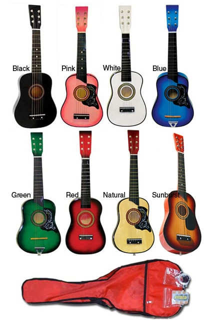 shop kids 39 25 inch toy acoustic guitar kit free shipping on orders over 45 overstock 3402346. Black Bedroom Furniture Sets. Home Design Ideas