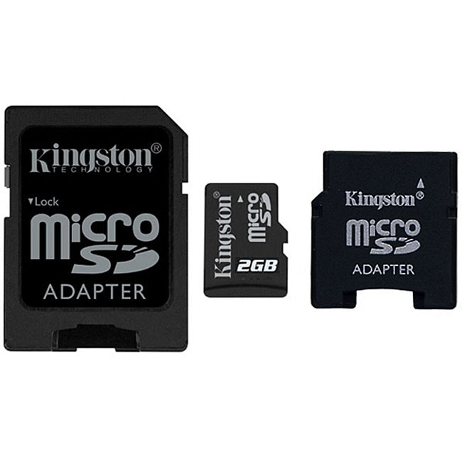 Kingston 2 GB Micro SD Card with Dual SD Adapters