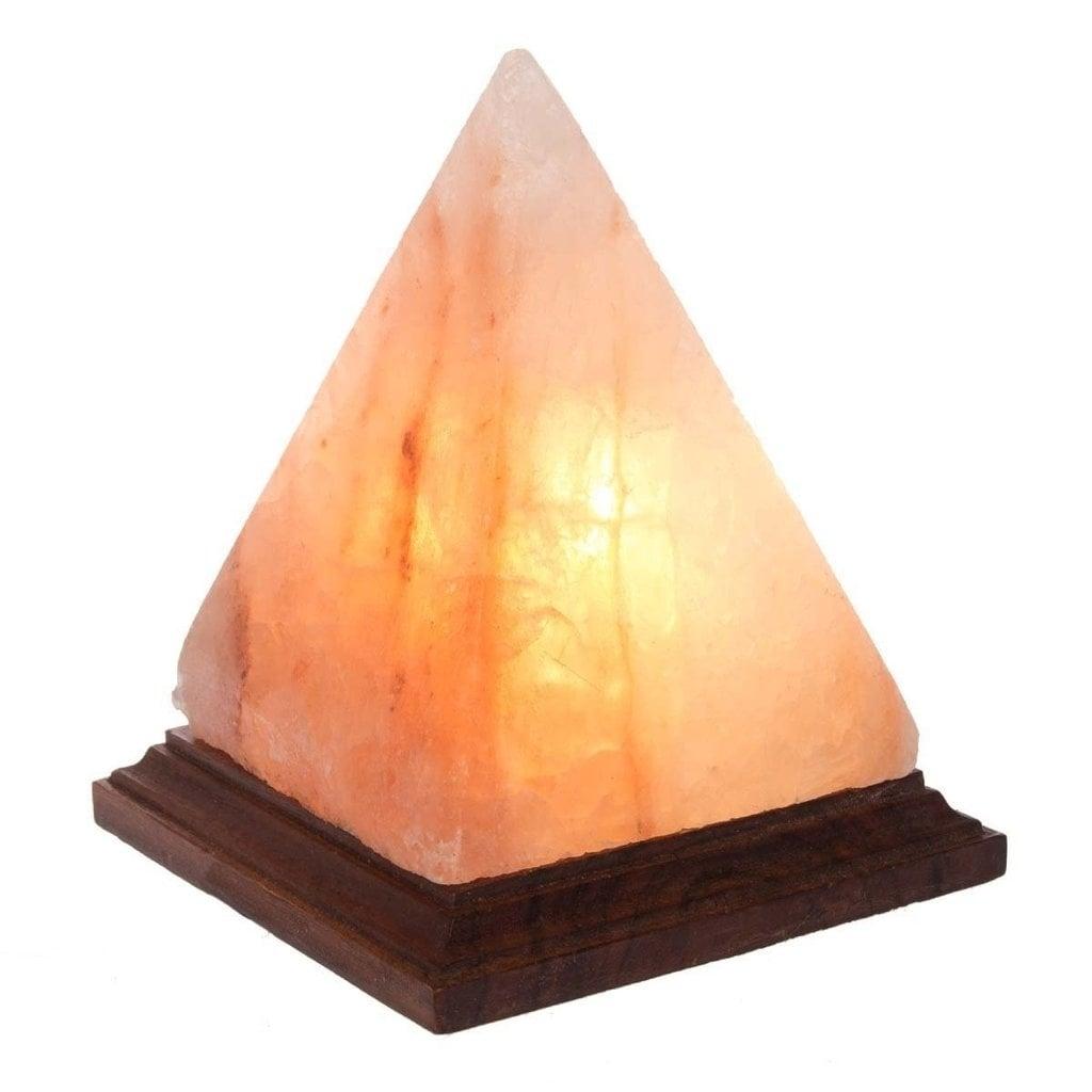 Black Tai 8-inch Pyramid Himalayan Salt Lamp