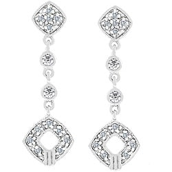 Kate Bissett White Gold 'Shimmer Drops' Cubic Zirconia Earrings