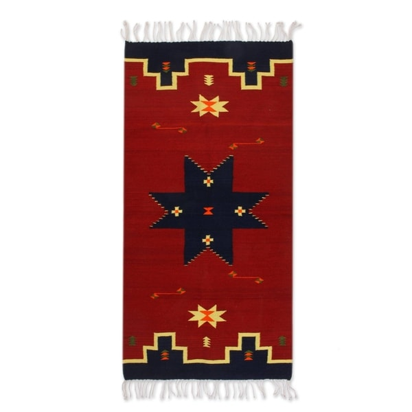 Vintage Mexican Zapotec Rug In Small Size With Stylized: Shop Handmade Universe Star Zapotec Wool Rug 2'5 X 5