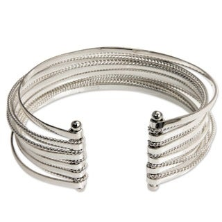 Silver 'Concentric' Bracelet (Indonesia)
