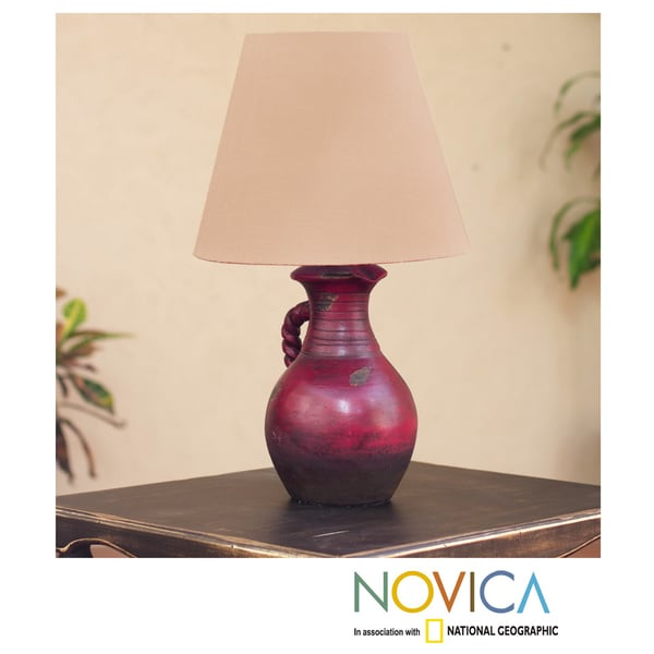 Ceramic 'A Pitcher of Light' Lamp (Mexico)