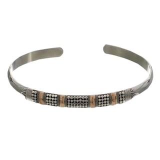 Handmade Sterling Silver 'Amaranth' Bracelet (Bali)