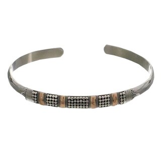 Handmade Sterling Silver 'Amaranth' Bracelet (Indonesia)