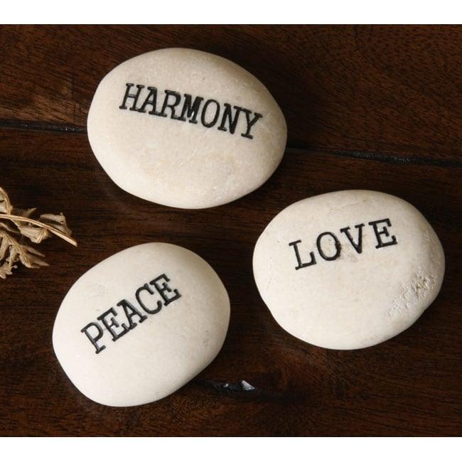 Kabella Inspirational 'Peace, Love, Harmony' Stones - Free ...