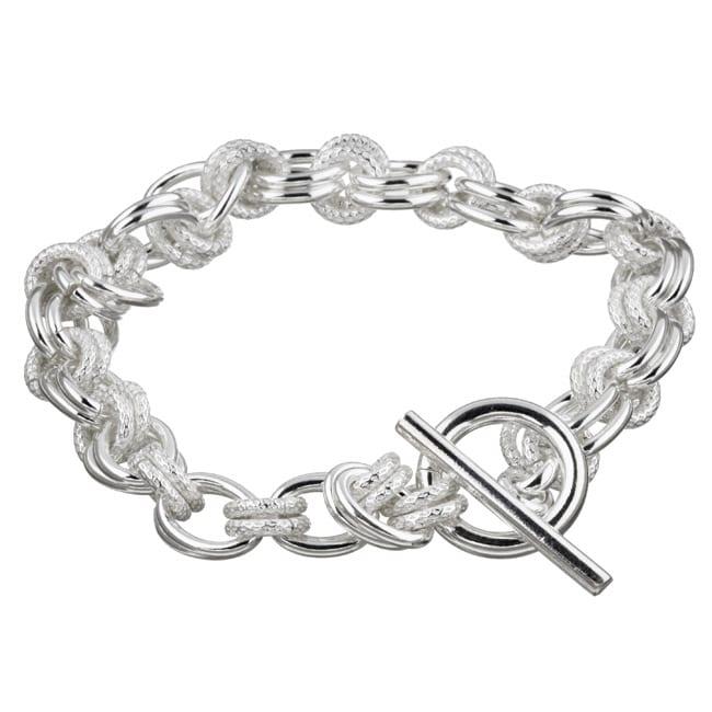 Sterling Essentials Sterling Silver 8-inch Double Link Bracelet