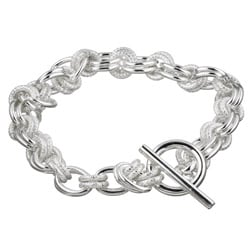 Sterling Essentials Sterling Silver 8-inch Double Link Bracelet