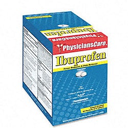 PhysiciansCare Ibuprophen 2-count Tablet Packs (Box of 50)