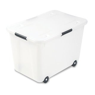 Advantus Clear 15-gallon Rolling Storage Box