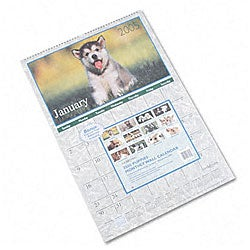 At-a-Glance Full-Color Puppies Photographic Wall Calendar