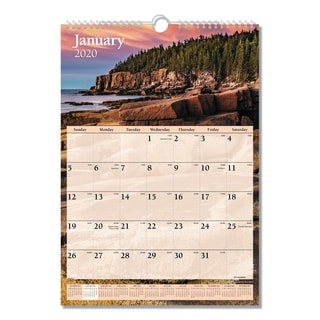 AT-A-GLANCE Scenic Monthly Wall Calendar, 12 x 17, 2018