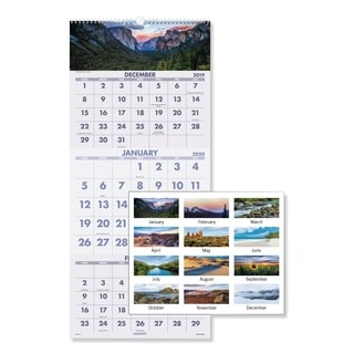 At-a-Glance 14-month Scenic Landscape Wall Calendar
