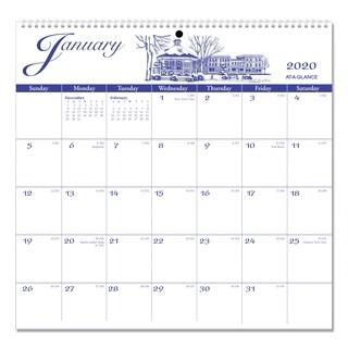AT-A-GLANCE 12-Month Illustrators Edition Wall Calendar, 12 x 11.75, Illustrations, 2019