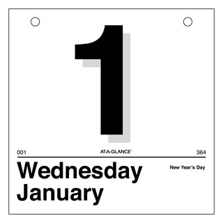 AT-A-GLANCE 'Today Is' Daily Wall Calendar Refill, 6 x 6, White, 2018