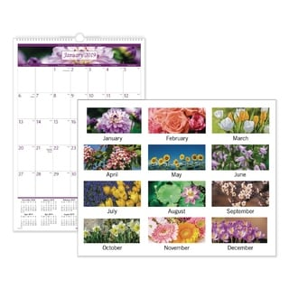 At-A-Glance Floral Images Monthly Wall Calendar