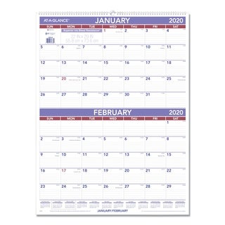 At-A-Glance Two Months per Page Wall Calendar