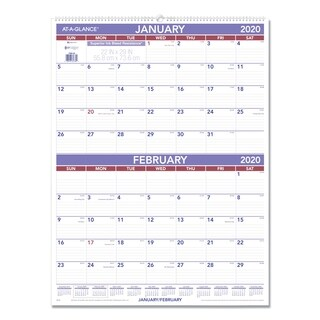 AT-A-GLANCE Two-Month Wall Calendar, 22 x 29, 2019