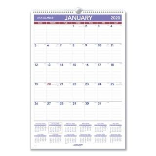 AT-A-GLANCE Erasable Wall Calendar, 15 1/2 x 22 3/4, White, 2018