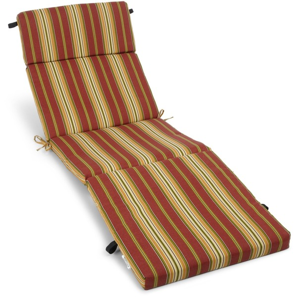N Blazing Needles 72inch AllWeather Chaise Lounge Cushion