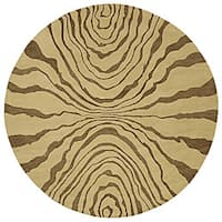 Hand-tufted Contemporary Beige Tienen New Zealand Wool Abstract Area Rug - 8' x 8'
