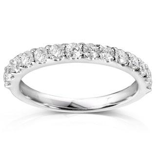 Link to Annello by Kobelli 14k Gold 1/2 Carat TDW Women's Diamond Wedding Band Similar Items in Wedding Rings