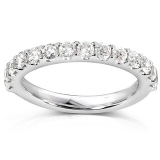 Annello 14k White Gold 3/4ct TDW Diamond Wedding Band