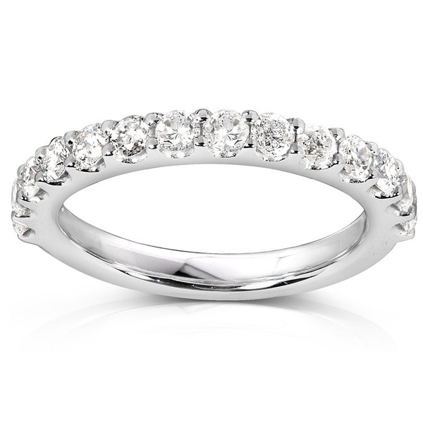 Annello by Kobelli 14k White Gold 3/4ct TDW Diamond Wedding Band (G-H, I1-I2)