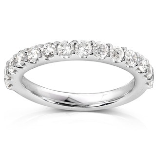 Annello 14k White Gold 3/4ct TDW Diamond Wedding Band