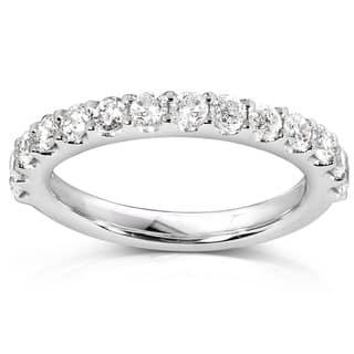 Annello 14k White Gold 3/4ct TDW Diamond Wedding Band (Option: 5.5)|https://ak1.ostkcdn.com/images/products/3409341/Annello-14k-White-Gold-3-4ct-TDW-Diamond-Wedding-Band-G-H-I1-I2-P11491428.jpg?impolicy=medium