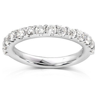 Annello 14k White Gold 3/4ct TDW Diamond Wedding Band (More options available)