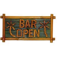 Bamboo 'Bar Open' Tiki Sign (Vietnam)