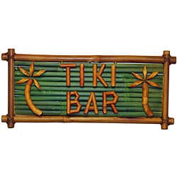 Bamboo 'Tiki Bar' Sign (Vietnam)