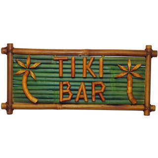 Handmade Bamboo 'Tiki Bar' Sign (Vietnam)