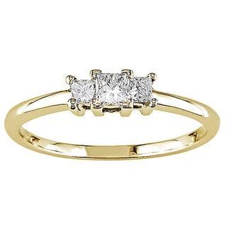14k Yellow Gold 1/4ct TDW Princess Cut Diamond Ring