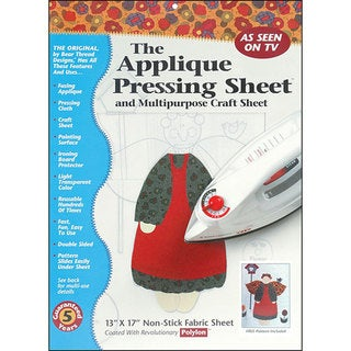 The Applique Casual Pressing Sheet with Instructions Included