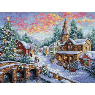 Gold Collection Holiday Village Cross Stitch Kit