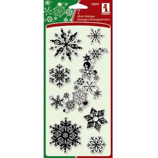 Inkadinkado Clear 'Snowflakes A-Plenty' Stamps