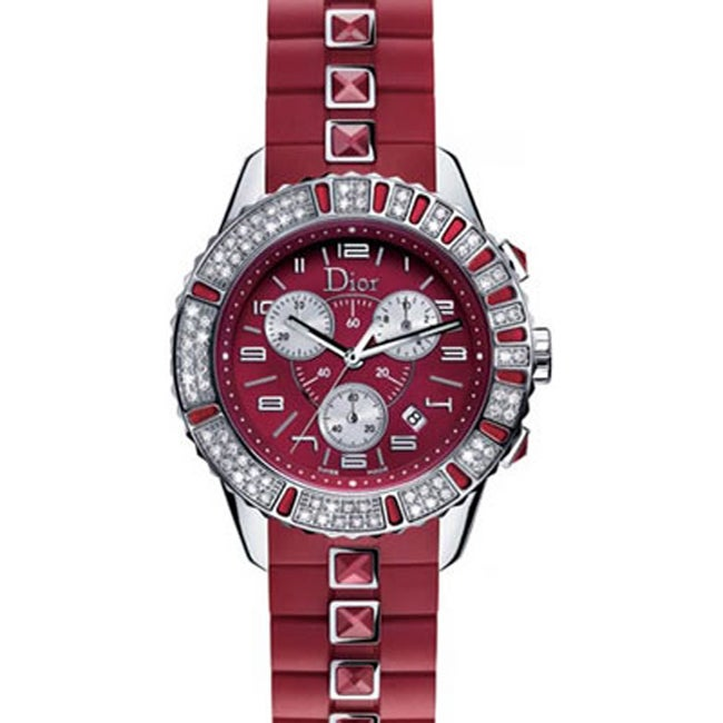 c095c1d2c29 Shop Christian Dior Christal Ruby Red Women s Watch - Free Shipping Today -  Overstock - 3410735