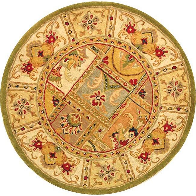 Safavieh Handmade Classic Empire Wool Panel Rug - 3'6 Round