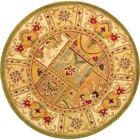 """Safavieh Handmade Classic Empire Wool Panel Rug - 3'6"""" x 3'6"""" Round"""