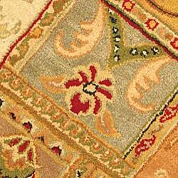 Safavieh Handmade Classic Empire Wool Panel Rug (3'6 Round) - Thumbnail 1
