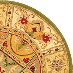 Safavieh Handmade Classic Empire Wool Panel Rug (3'6 Round) - Thumbnail 2