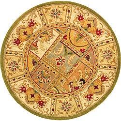 Safavieh Handmade Classic Empire Wool Panel Rug - 3'6 Round - Thumbnail 0