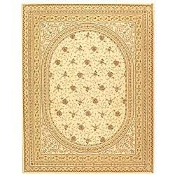 Safavieh Handmade Persian Court Ivory/ Beige Wool and Silk Rug (6' x 9')