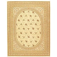 Safavieh Handmade Persian Court Ivory/ Beige Wool and Silk Rug - Assorted - 6' x 9'