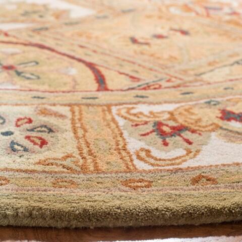 Safavieh Handmade Classic Empire Wool Panel Rug (8' Round) - 8' x 8' Round