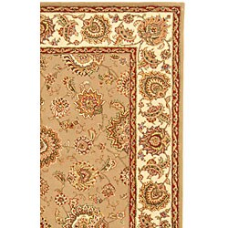 Safavieh Handmade Persian Court Taupe/ Ivory Wool and Silk Rug (5' x 8')