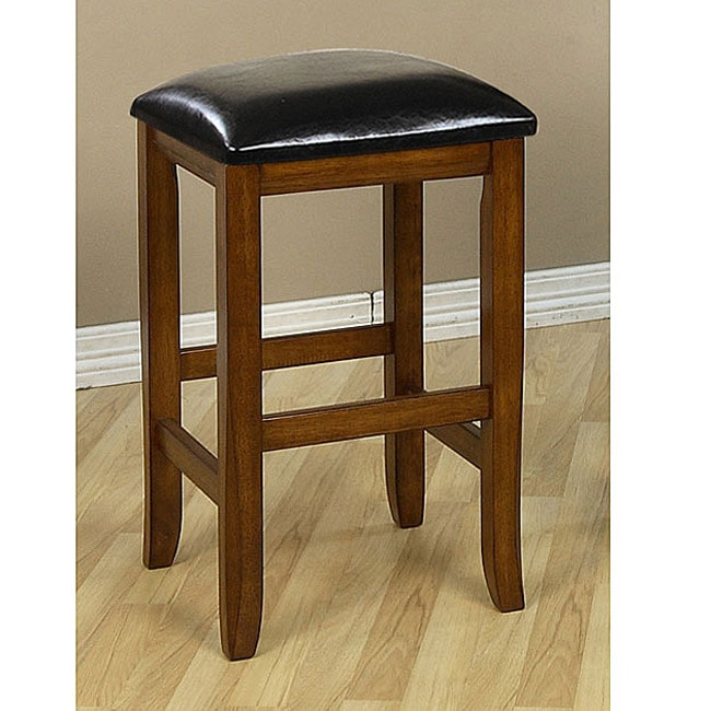 Mission-style 24-inch Oak Counter Stools (Set of 2)